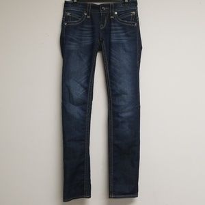 Rock Revival Dark Blue Gwen Straight Leg Jeans 26